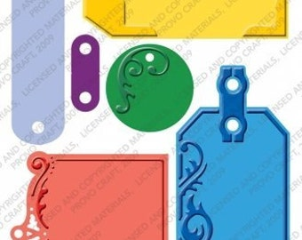 CUTTLEBUG EMBOSSED TAGS -  Hard to find - Retiring - Only a few left !