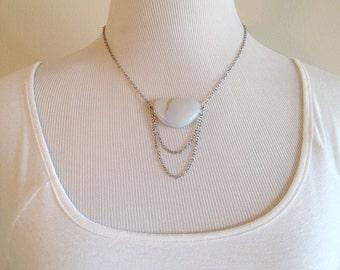 Nephele. A Milky Quartz Necklace
