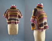 Sweater Poncho for Women | Valentines Day gift for her | Ready to ship in size XS | Only 1 Available | Knitwear | Cropped Sweater | Crochet