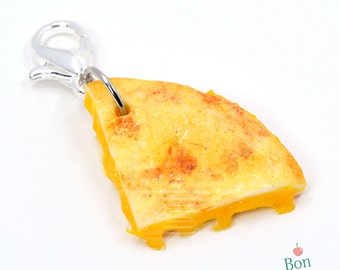 Quesadilla Charm, Miniature Food Charm, Polymer Clay Food, Miniature Food Jewelry, Cell Phone Charm, Food Necklace