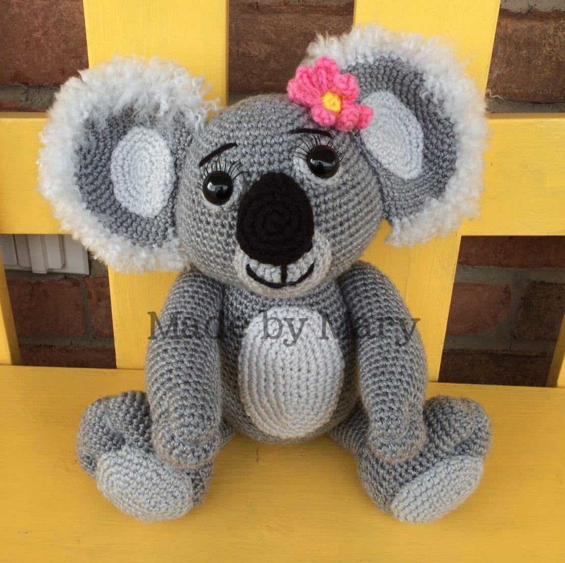 Llavero Koala Amigurumi : Made by Mary by maryabbie986 on Etsy