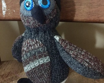 Sock Owl with Toque