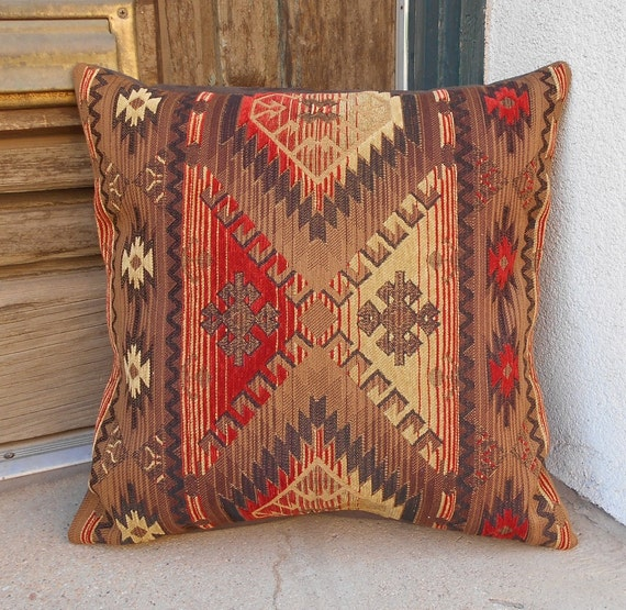 Southwestern Pillow Covers 24 X 24 : Southwestern Pillow Cover 18 x 18 made in Taos Luxurious