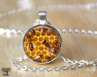 Bee Necklace - Bee Jewelry - Honey Bee Necklace - Save the Bees L104