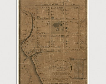 Old New Haven Map Art Print 1806 Antique Map Archival Reproduction
