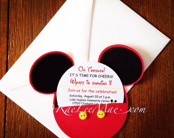 70 Mickey Mouse Birthday Invitations/Minnie Mouse Birthday Invitations/mickey mouse party/minnie mouse party