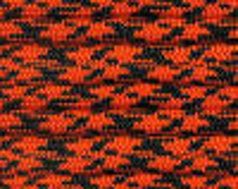100ft Neon Orange Camo 550 Paracord