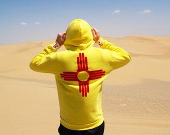 New Mexico Zia Hoodie flag pullover hoodie sweatshirt 505 gift state