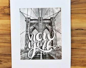 Brooklyn, New York -  art print