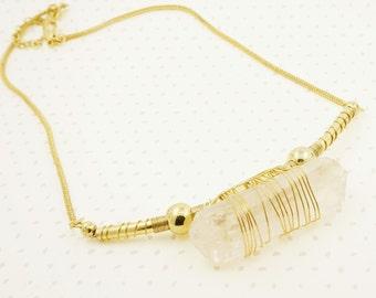 "Gold ""Alaina"" Pendant Necklace - Dainty, Simple, Birthday Gift, Wedding Bridesmaid Gift"
