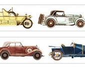 1 Roll of Limited Edition Washi Tape: Vintage Classic Car