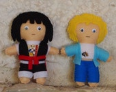 Bill and Ted's Excellent Adventure Inspired Felt Plush Figures set of two - Bill & Ted