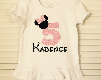 Personalized Birthday Number Applique Shirt - Girls Applique Shirt -Girls Birthday Shirt !