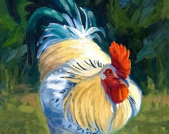 Ceramic Art Tile: Rocky II, Rooster