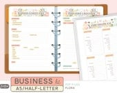 A5 SMALL BUSINESS Kit - Printable Planner Inserts - Flora Theme - 18 sheets
