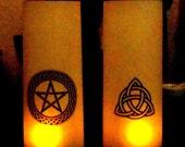 Paper Lantern ~ Ritual Lighting ~ Altar Lamp ~ Custom Orders ~ Pagan Symbols ~ Sabbat Decor