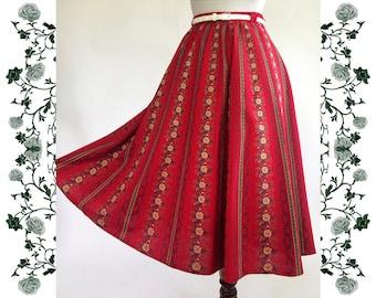 """Vintage """"Alphorn Trachtenmode von Adler"""" Skirt"""