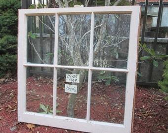 28 x 28 Vintage Window sash  6 pane  from 1949