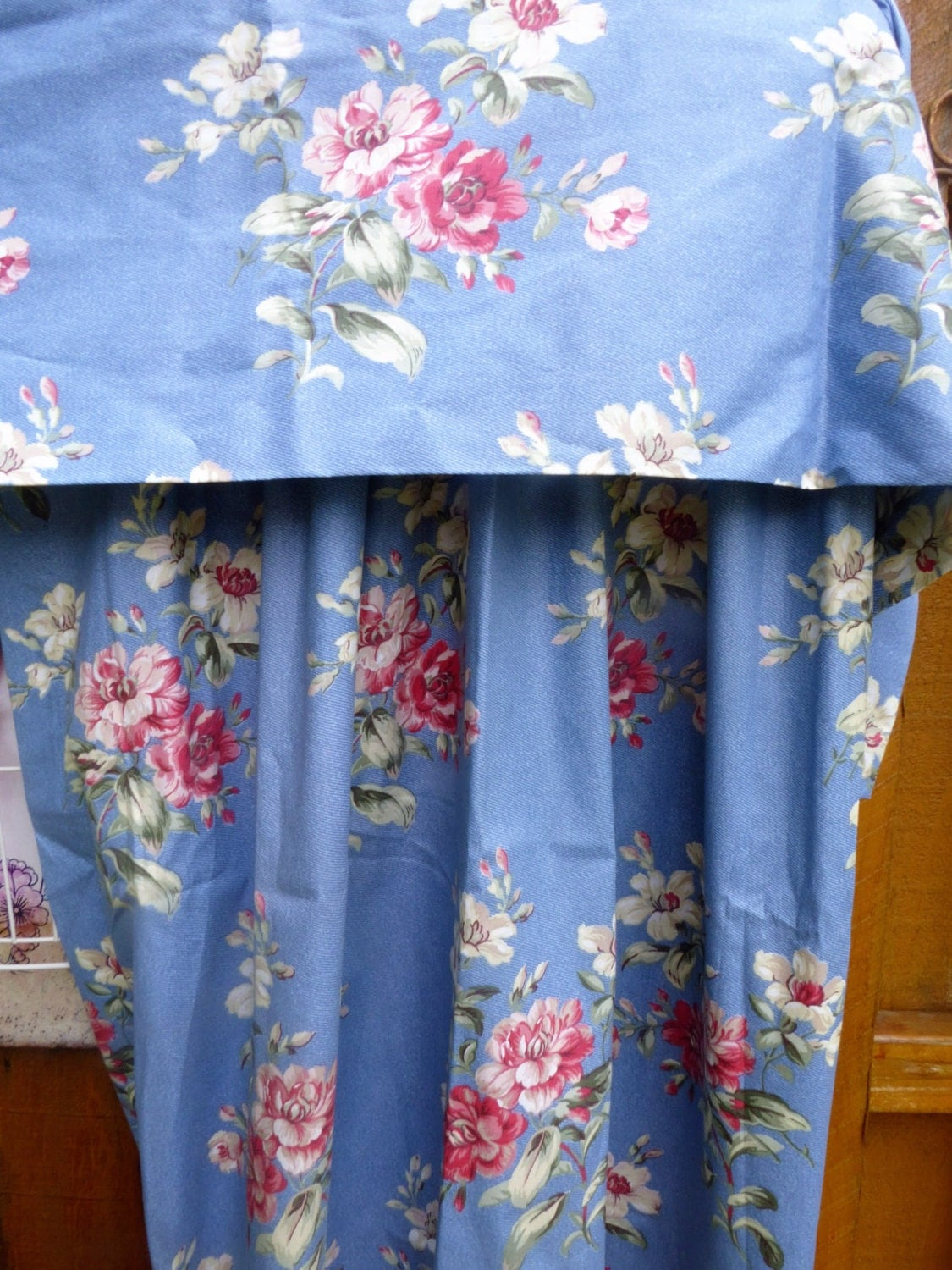 laura ashley valance pair of curtains floral drapes medium. Black Bedroom Furniture Sets. Home Design Ideas