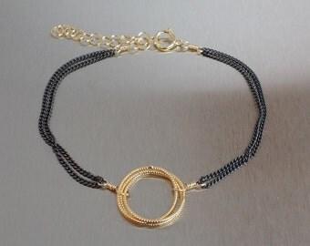 Dual Tone Trinity Bracelet