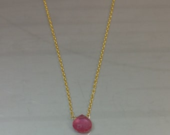 Pink Sapphire Necklace (7mm)