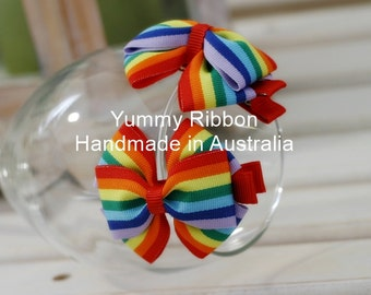 A pair baby clip,lovely girls hair accessories,kids hair accessories,baby hair accessories,toddler hair accessories,rainbow clip