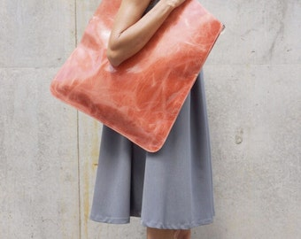 New LIMITED EDITION Genuine Leather Crazy Salmon Bag / High Quality  Tote Asymmetrical Tote  Bag by AAKASHA A14416