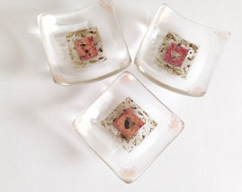 Fused Glass Trinket / tealight dish