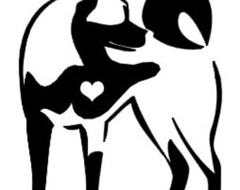 Dog Breed Decal - Akita love vinyl decal