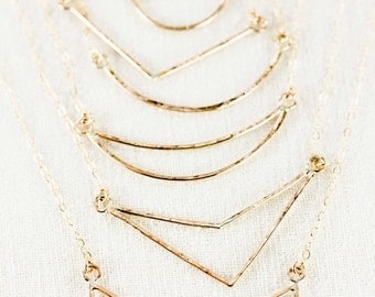 SALE Kaihe necklace - small gold arrow necklace, gold arrow necklace, gold layered necklace, gold filled necklace, strand necklace, hawaii