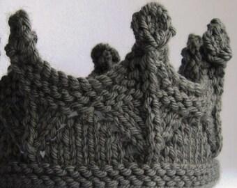 Crown GRIS Prince Princess Headband Lace knit - Many sizes