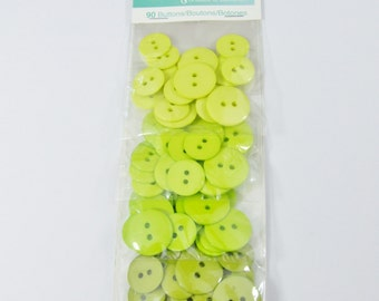 Ombre Button Pack - Lime [B0688]