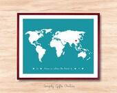 World Map wall art, Art print, Personalized world map,Custom World Map, Map Wall Art, Country Map print, State Map Print
