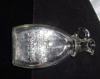 Antique Glass Syrup Bottle w/ Pour Spout and Handle  Robb-Ross Syrup
