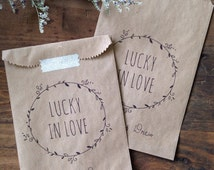 25 Custom Lottery Ticket Favors - Lottery Ticket Holders - Bridal Showers - Wedding Favors