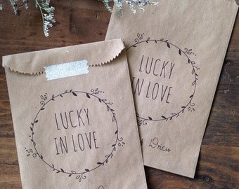 Custom Lottery Ticket Favor Bags - Lottery Ticket Holders - Bridal Shower Favor - Wedding Favors - Set of 25 Printed Paper Bags