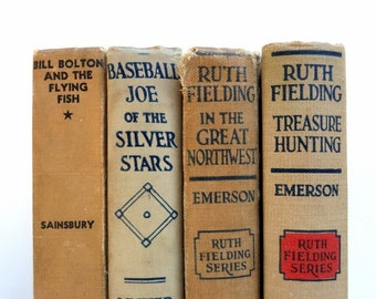 Beige Tan Vintage Books/Old Books/Book Decor/Wedding Decor/ Photo Prop/Instant Library/Cottage Chic/Shabby Chic/Decorative Books/Home Decor