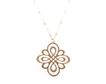 Long losange necklace