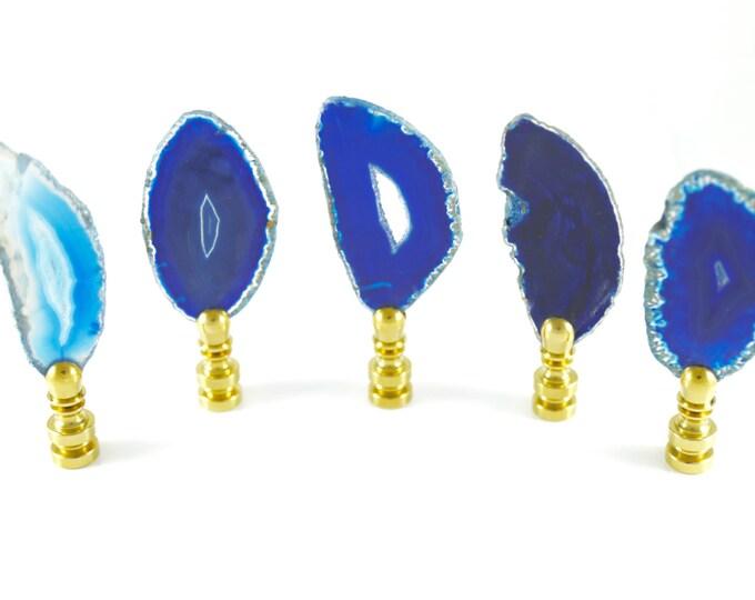 Blue Agate Lamp Finial