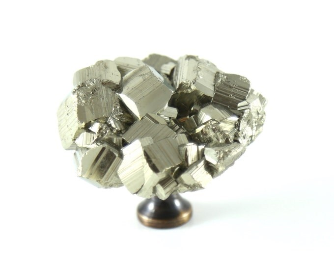 Pyrite Knob--Gold Pyrite Knob--Pyrite Drawer Pull--DELUXE SIZE
