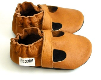 soft sole baby shoes handmade infant gift sandals brown 18 24 garcon fille cuir souple chaussons Krabbelschuhe porter  ebooba  SN-40-BR-M-4