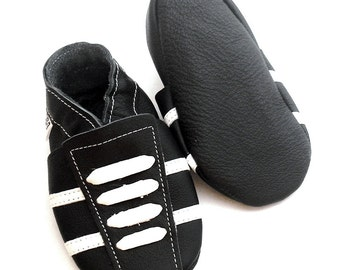 soft sole baby shoes leather infant sport black white 0 6 m bebes garcon cuir souple chaussons chaussures Krabbelschuhe ebooba SP-27-B-M-1