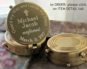 Baptism Gift Boy, Baptism Godparents Gift, 1st Communion Boy Gift, Godparents Confirmation Gift, Engraved Compass, Working Compass