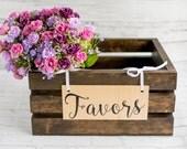 Rustic Wedding Crate - Wedding Favor Box Rustic Chic Favor Crate | Large Handmade Wood Crate