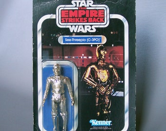 Vintage Star Wars C-3PO MOC - Mint On Card New in Packaging - ESB 41 Back Offerless Cardback