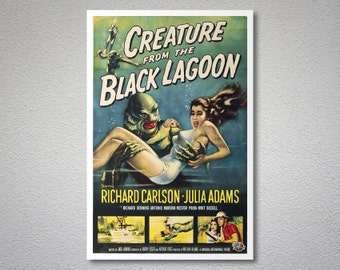 Creature from the Black Lagoon Vintage Movie Poster - Poster Paper, Sticker or Canvas Print