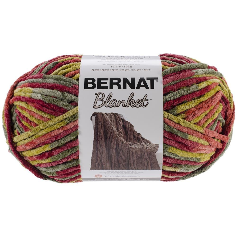 Bernat Big Blanket Yarn In Harvest Large Skein 300 Grams