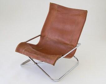 Sueki Uchida Leather Sling Chair