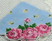 Vintage Hankie for Collectors,  Oblong in Size, Sewing, Crafting, Great Gift Idea   F-36