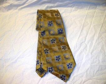 Vintage Tino Cosma Men's Tie  - 100% Silk - Handmade - Floral